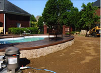 Upgrade decking to stamped concrete or other decorative concrete solutios