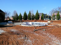 Excavate and run lines for vinyl pool liner